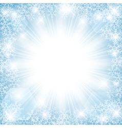 winter sun vector image