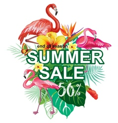 Template for summer sale advertisement vector