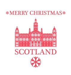 Merry Christmas Scotland vector image