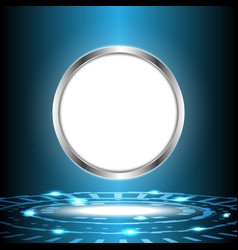 Abstract digital technology circle with white vector