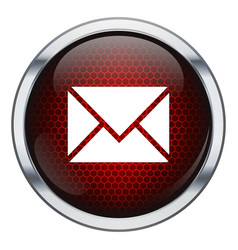 Red honeycomb mail icon vector image
