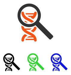 Explore dna flat icon vector