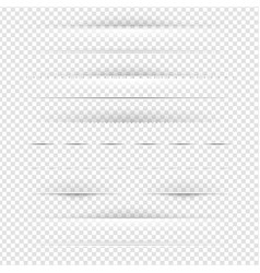 set of dividers set vector image