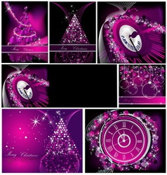 Merry christmas background collections silver and vector