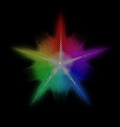 Mosaic Star vector image