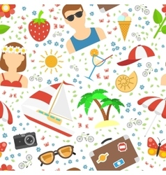 Summer and vacation background vector