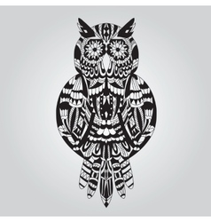 Beautiful ornamental owl graphic vector