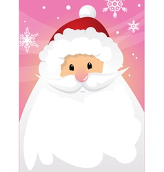 Santa claus and blank sign vector