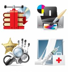 computer and web icons v vector image