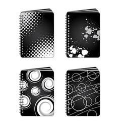 grunge notebooks vector image