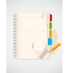 notepad pencil vector image