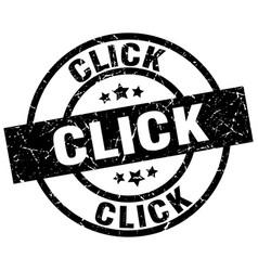 click round grunge black stamp vector image vector image