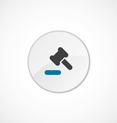 Court law icon 2 colored vector