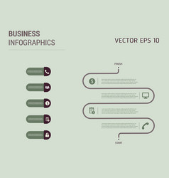 creative infographics elements eps10business vector image vector image