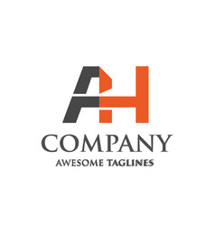 creative letter ah logo vector image vector image