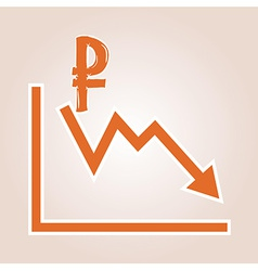 Decreasing graph with ruble symbol vector