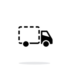 Empty delivery truck icon on white background vector image vector image
