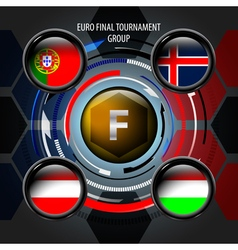 European flag buttons f vector
