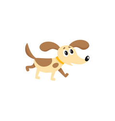 Flat dog isolated vector