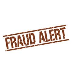 Fraud alert stamp vector