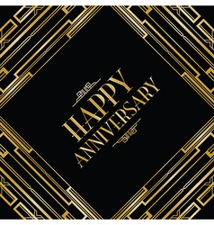 Happy anniversary gatsby vector