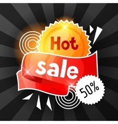Hot sale banner advertising flyer for commerce vector