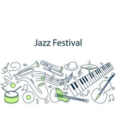 Jazz festival banner vector image
