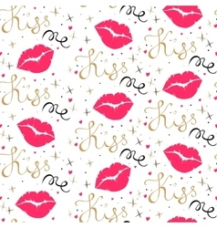 Kiss me seamless pattern vector image