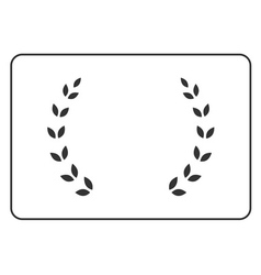 Laurel wreath icon border 15 vector