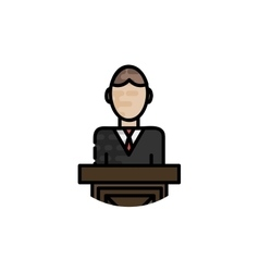 Law flat icon vector image vector image