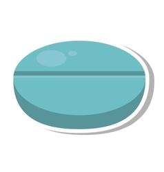 Medicine drug isolated icon vector