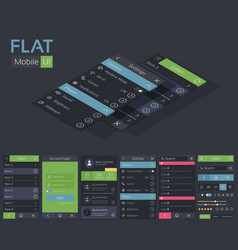 Mobile flat ui design template vector