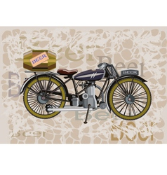 motorcycle and a keg of beer vector image