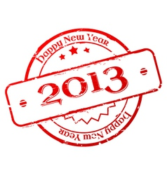 New year 2013 stamp vector image vector image