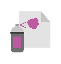 Paint bottle spray isolated icon vector