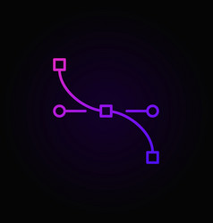 Pen tool curve colored outline modern icon vector