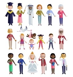 People of different ages flat style vector