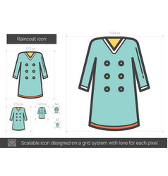 Raincoat line icon vector