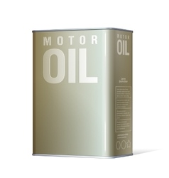 Realistic metal containers for motor oil vector image