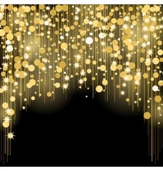 Round shining dots star splashes blurred spots vector