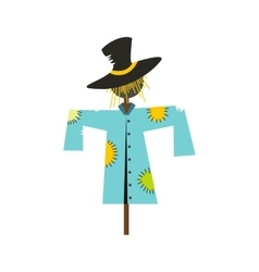 Scarecrow icon flat vector
