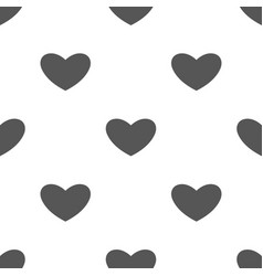 Seamless heart pattern love symbol from icon vector