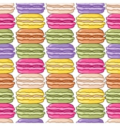 Seamless macaroon background vector image vector image