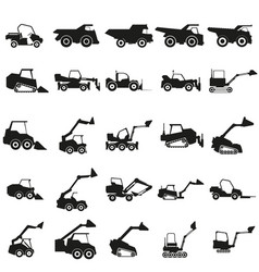 set loader car black icon on vector image