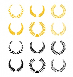 Set of laurel wreaths vector