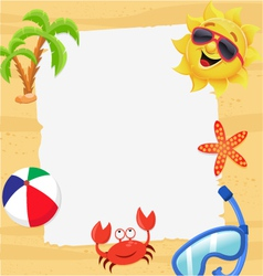 Summer Note vector image