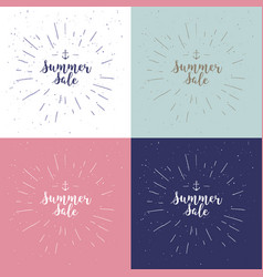 summer sale set drawn lettering summer vector image