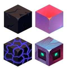 Textures for platformers icons sample set vector