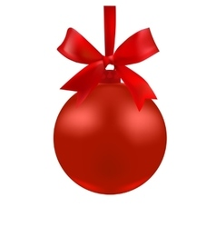 The ball of red color with a bow vector image