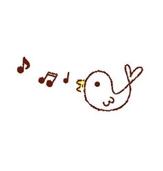 Tweeting singing bird vector